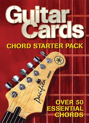 Guitar Cards - Chord Starter Pack - Over 50 Essential Chords - Guitar Hal Leonard Flash Cards
