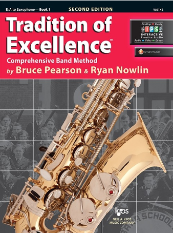 Tradition of Excellence Book 1 - Alto Saxophone Part by Pearson/Nowlin Kjos W61XE