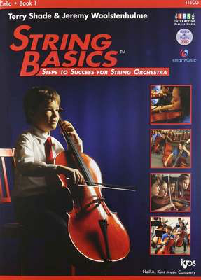 String Basics, Book 1 Cello - Steps to Success for String Orchestra - Jeremy Woolstenhulme|Terry Shade - Cello Neil A. Kjos Music Company /DVD