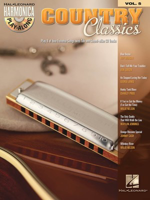 Country Classics Harmonica Play Along V5 Bk/Cd - Various - Harmonica Hal Leonard /CD