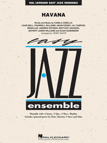 Havana - Easy Jazz Ensemble Series Grade 2 - Camila Cabello arranged Terry White - Hal Leonard