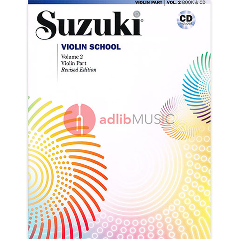 Suzuki Violin School Volume 2 (Revised) - Book/CD