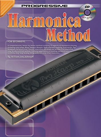 Progressive Harmonica Method Bk/CD - Johnson William Lee - Koala Publications