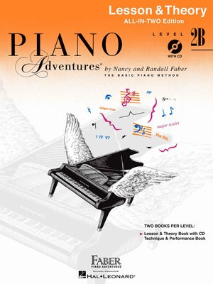 Piano Adventures All-In-Two Level 2B - Lesson & Theory Book - Nancy Faber|Randall Faber - Piano Faber Piano Adventures /CD - Adlib Music