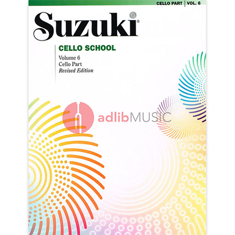 Suzuki Cello School Cello Part, Volume 6 (Revised) - Cello Summy Birchard
