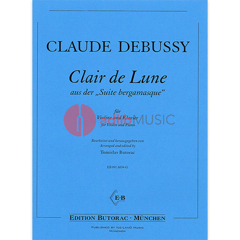 Clair De Lune - Violin and Piano - Claude Debussy arranged by Tomislav Butorac - Ice-Land Music