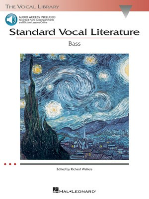 Standard Vocal Literature - An Introduction to Repertoire - Bass - Various - Classical Vocal Bass Richard Walters Hal Leonard /CD - Adlib Music