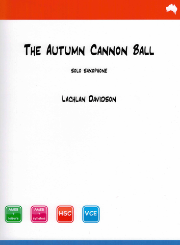 Davidson - Autumn Cannonball - Saxophone Solo Reed Music RM003