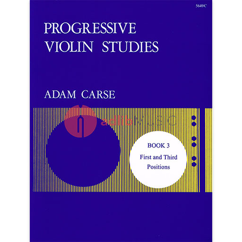 Progressive Violin Studies Book 3 - First and Third Postions - Adam Carse - Stainer & Bell
