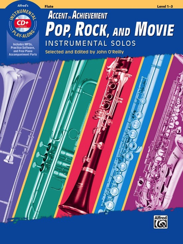 Accent on Achievement Pop, Rock, and Movie Instrumental Solos - Flute - Book/CD - Alfred