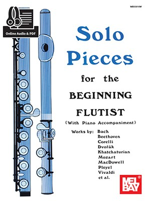 Solo Pieces for the Beginning Flutist - Various - Flute Dona Gilliam|Mizzy McCaskill Mel Bay Sftcvr/Online Audio - Adlib Music