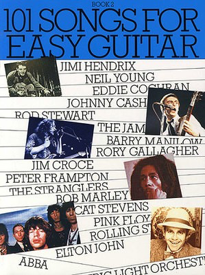 101 Songs For Easy Guitar: Book 2 - Guitar Music Sales Easy Guitar with Lyrics & Chords - Adlib Music