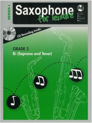 Saxophone For Leisure Grade 2 B Flat Bk/Cd Ser 1 - Soprano Saxophone|Tenor Saxophone AMEB /CD - Adlib Music