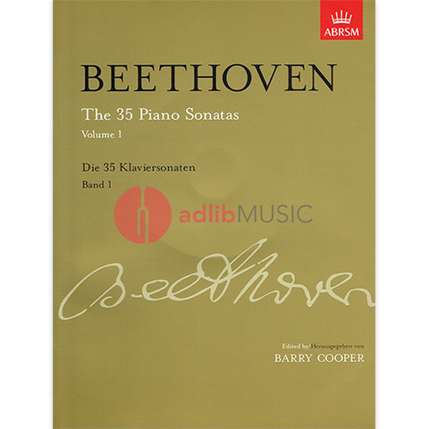 The 35 Piano Sonatas, Volume 1 up to Op. 14 - Ludwig van Beethoven - Piano ABRSM Piano Solo