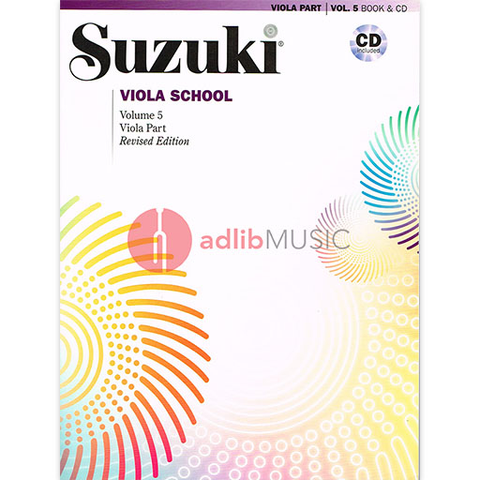 Suzuki Viola School Volume 5 Bk/CD - Suzuki Shinichi - Alfred Music