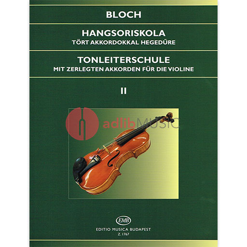 Scale Studies Op. 5 Volume 2 - Bloch - Violin - EMB