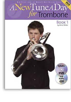 A New Tune A Day for Trombone - Book 1 - (CD/DVD Edition) - Trombone Amos Miller Boston Music /CD/DVD