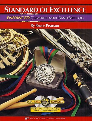 Standard of Excellence Enhanced Book 1 - Clarinet Part/CD by Pearson Kjos PW21CL
