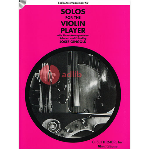Solos for the Violin Player - Book & Accompaniment CD - Schirmer