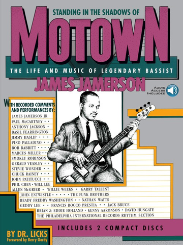 Standing in the Shadows of Motown - The Life and Music of Legendary Bassist James Jamerson - Bass Guitar - Allan Slutsky - Online Audio Access - Hal Leonard