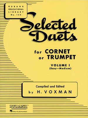 Selected Duets for Cornet or Trumpet - Volume 1 - Easy to Medium - Trumpet Rubank Publications Trumpet Duet
