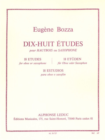 18 ETUDES FOR OBOE - BOZZA EUGENE - Leduc