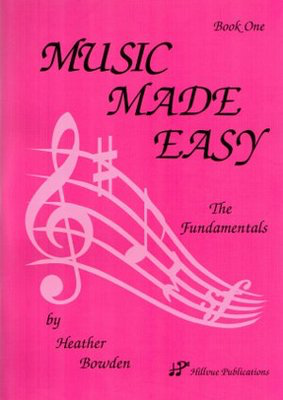 Music Made Easy Book One - Heather Bowden - Hillvue Publications - Adlib Music