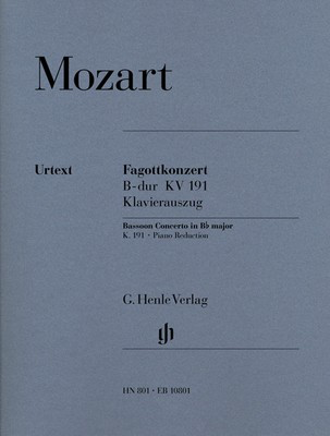 Concerto for Bassoon and Orchestra Bb major K.191 - Wolfgang Amadeus Mozart - Bassoon G. Henle Verlag