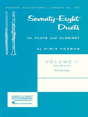 78 Duets for Flute and Clarinet - Volume 2 - Advanced (Nos. 56-78) - Clarinet|Flute Rubank Publications