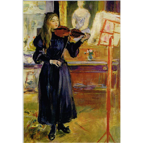 Card - 'L'Etude de Violin', 1893 by Berthe Morisot - Music in Art