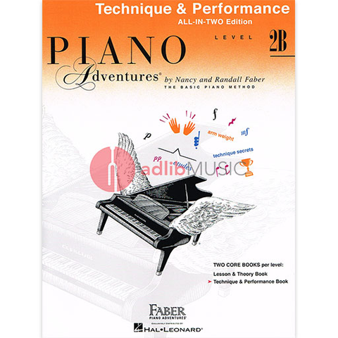 Piano Adventures All-In-Two Level 2B - Technique & Performance Book - Nancy Faber|Randall Faber - Piano Faber Piano Adventures
