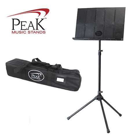 Collapsible Music Stand - Peak SMS40 Standard Height Aluminium Base - Adlib Music - 1
