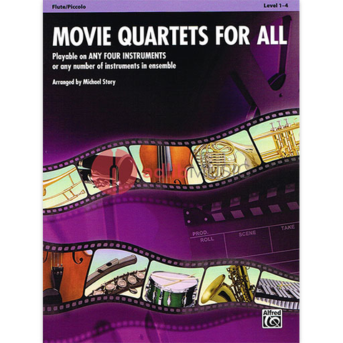 Movie Quartets for All - Flute Quartet by Story Alfred 33538