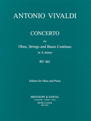 Concerto in A minor RV 461 - Edition for Oboe and Piano - Antonio Vivaldi - Oboe Musica Rara