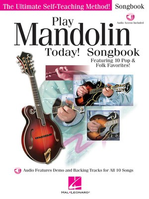 Play Mandolin Today! Songbook - Featuring 10 Pop & Folk Favorites! - Various - Mandolin Hal Leonard Sftcvr/Online Audio
