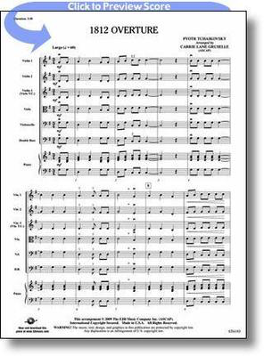1812 Overture - Peter Ilyich Tchaikovsky - Carrie Lane Gruselle FJH Music  Company Score/Parts