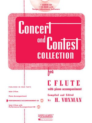 Concert and Contest Collection for C Flute - Accompaniment CD - Flute Rubank Publications CD-ROM