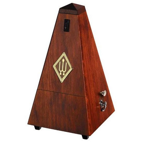 Metronome - Wittner Mahogany Wood With Bell - Made in Germany