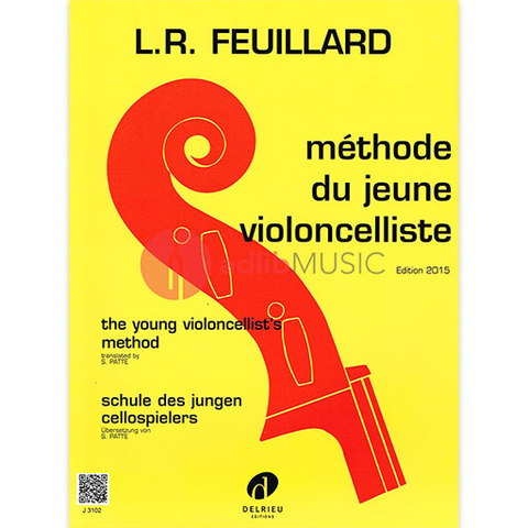 YOUNG VIOLONCELLISTS METHOD - FEUILLARD - CELLO - DELRIEU