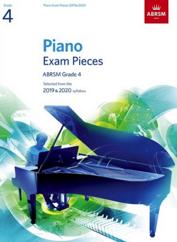 ABRSM Piano Exam Pieces Grade 4 2019-2020 Book Only - ABRSM
