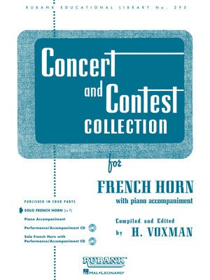 Concert and Contest Collection for French Horn - Solo Part - Various - French Horn Rubank Publications