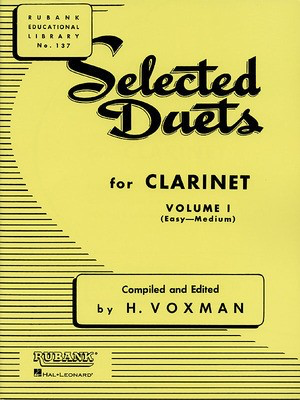 Selected Duets for Clarinet - Volume 1 - Easy to Medium - Clarinet Rubank Publications Clarinet Duet - Adlib Music