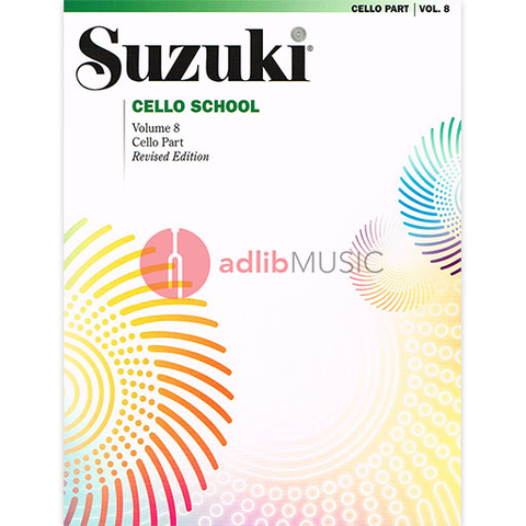 Suzuki Cello School Cello Part, Volume 8 (Revised) - Cello Summy Birchard