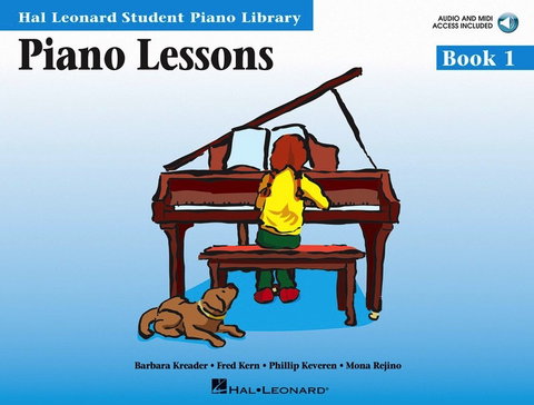 Piano Lessons - Book 1 Book/Enhanced Audio Access Pack - Hal Leonard Student Piano Library - Barbara Kreader|Fred Kern|Mona Rejino|Phillip Keveren - Piano Hal Leonard /Audio Access