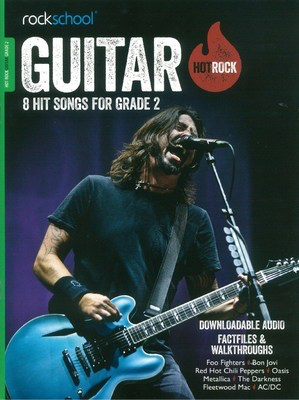 AMEB Rockschool: Hot Rock Guitar - Grade 2 - 8 Hit Songs for Grade 2 - Guitar Rock School Limited Sftcvr/Online Audio