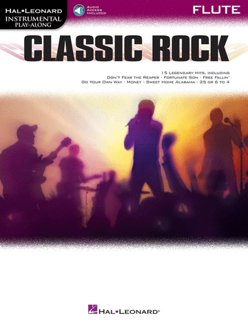 Classic Rock - Flute Instrumental Play-Along Book with Online Audio - Various - Hal Leonard