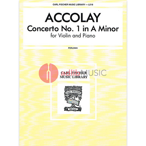 Concerto No. 1 in a minor - Violin and Piano -  Accolay - LAY - VIOLIN - FISCHER