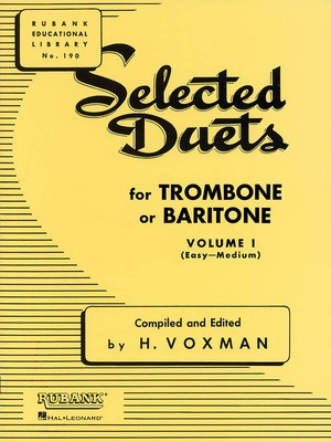 Selected Duets for Trombone or Baritone - Volume 1 - Easy to Medium - Trombone Rubank Publications Trombone Duet - Adlib Music