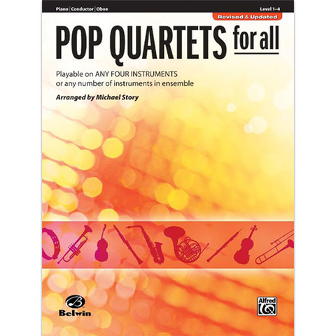 Pop Quartets for All - Piano/Conductor Score Warner Bros 30709