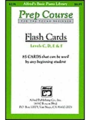 Alfred's Basic Piano Prep Course: Flash Cards, Levels C-F - Amanda Vick Lethco|Morton Manus|Willard A. Palmer - Piano Alfred Music Flash Cards - Adlib Music